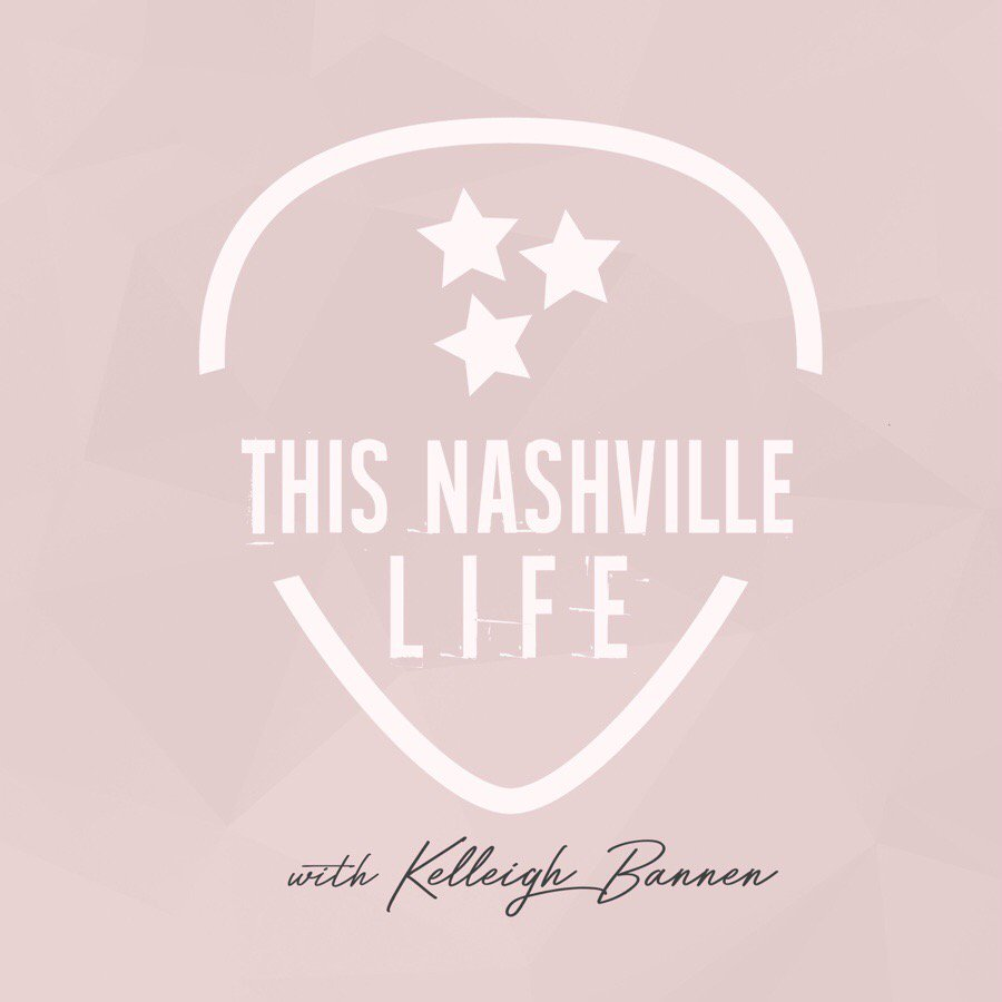 Podcast preview image of This Nashville Life's logo as a guitar pick